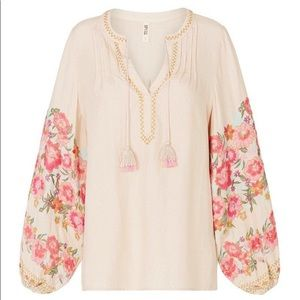 NWT Spell Designs Cleo blouse Latte, XS